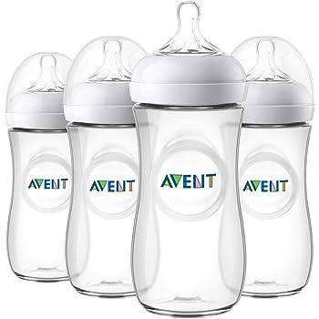 Philips Avent Natural Baby Bottle, Clear, 11oz, 4pk, SCF016/47