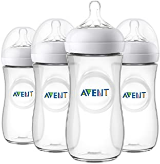 Philips Avent Natural Baby Bottle, Clear, 11 Oz, 4pk,...