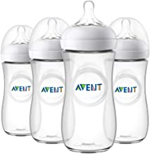 Philips Avent Natural Baby Bottle, Clear, 11oz, 4pk, SCF016/47