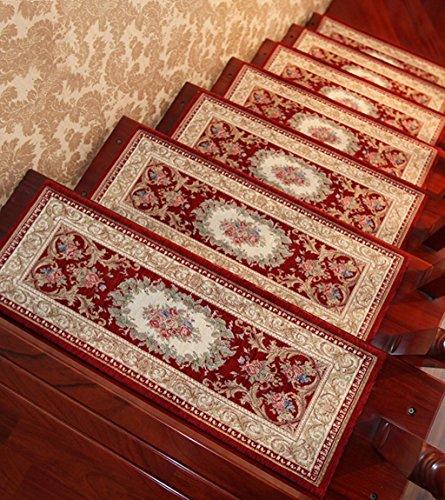 Scale Tappetino Pad, 5 Pezzi,Scala Pad Passaggio Stuoia Del Rilievo Di Legno Solido Scala Pad Auto - Adesivo Anti - Scivolo Scale Tappetini ( Colore : F. , dimensioni : 30*100cm )