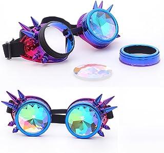 cb7f8ea615d AMOFINY Fashion Glasses Colorful Rave Festival Party EDM Sunglasses  Diffracted Lens