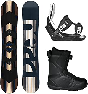 HEAD 2018 RUSH Men's Complete Snowboard Package Bindings BOA Boots - Board Size 156