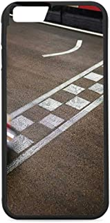 Man Cave Decor Rubber Phone Case,Crossing Finish Line Motor Racing Track Recreational Pursuit Success Victory Decorative Compatible with iPhone 6/6s