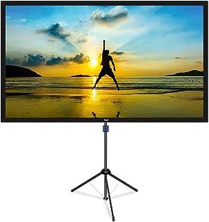 改良新版 4K対応 プロジェクタースクリーン 自立式 携帯型 三脚式 屋内屋外兼用 最大60型 16:9 視野角160° 防しわ加工 お手入れ簡単 (価格は品質に等しいます)