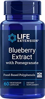 Life Extension Blueberry Extract w/Pomegranate, 60 Vegetarian Capsules (01438)