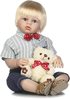 TERABITHIA 28 inch 70cm Realistic Reborn Toddler Dolls,Boy Doll Handcrafted in Silicone-Like Vinyl and Weighted Body