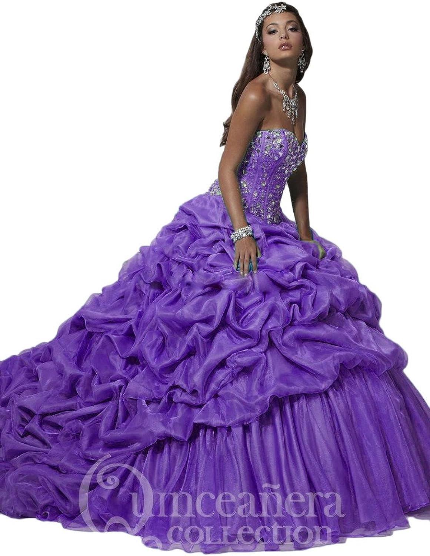Beilite Women's Taffeta Formal Quinceanera Dress Debutante Ball Gown
