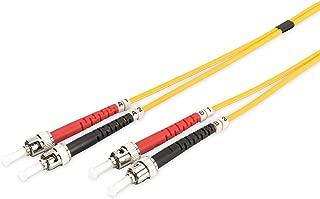 Cable de Fibra /óptica LC a ST de 1 m LSZH Cable de conexi/ón DIGITUS LWL OS2 10 GBit//s Amarillo D/úplex monomodo 09//125/µ