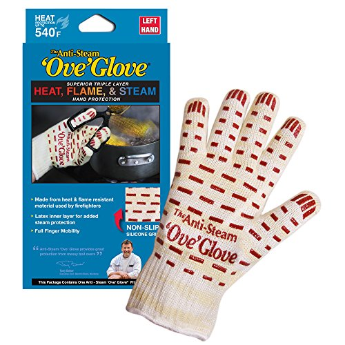 'Ove' Glove, Anti-Steam, Hot Surface Handler Oven Mitt/Grilling Glove, Left Hand, Perfect for Kitchen/Grilling, 540 Degree Resistance, As Seen On TV Household Gift