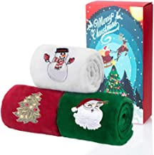Christma Towels Dish Towel 4Packs 24 x 12 inch Cotton Towels Bathroom Kitchen Wash Basin Drying Cleaning for Home and Kitchen 3 Colors