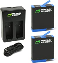 Wasabi Power Battery (2-Pack) and Dual Charger for GoPro Hero 8 Black (All Features Available), Hero 7 Black, Hero 6 Black, Hero 5 Black, Hero 2018, Fully Compatible with Original