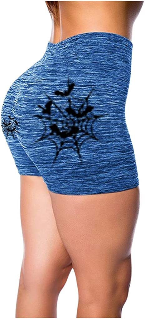 Handyulong High Waist Printed Yoga Women for Shorts OFFicial site Pockets Genuine Free Shipping with