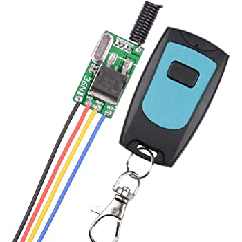 Anntem RF Wireless Remote Control Switch 433mhz Transmitter and Receiver kit DC 5v 3.7v 9v 12v Universal Battery Power Mini Small Switch Relay Module Circuit Micro Control TransferLineToggle