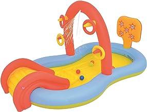 XXRUG Piscina Hinchable Infantil, Engrosado PVC Almohadilla De Salpicadura con Tobogán Automática Plegable Portátil Fiesta De Verano En Jardín