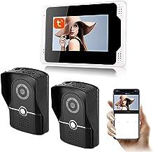 Tuya APP WiFi Videodeurbel, 7-inch monitor 1080P nachtzichtcamera Videodeurtelefoon, intercom, huisbeveiligingssysteem,2 c...