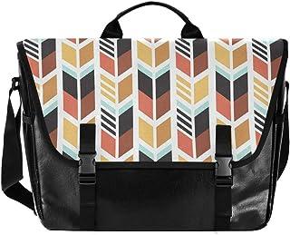 Bolso de lona con flecha de rayas de colores para hombre y mujer, estilo retro