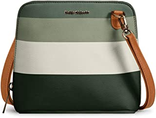 DailyObjects Green Quad Trapeze Sling Crossbody Bag for girls and women | Vegan leather, Stylish, Sturdy, Zip closure with...