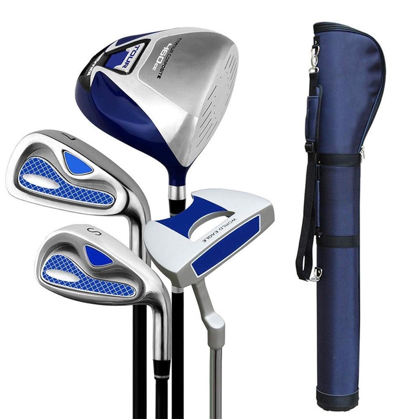 生む吸収するホテルゴルフパター完全練習ゴルフクラブセットメンズセミセットポールエクササイザーゴルフ初心者セット用キッズキッズ3-12歳 ゴルフアイアンセットワークスパター (色 : One color, サイズ : S3)