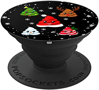 Christmas Poop Emojis Reindeer Snowman Tree Santa PopSockets Grip and Stand for Phones and Tablets