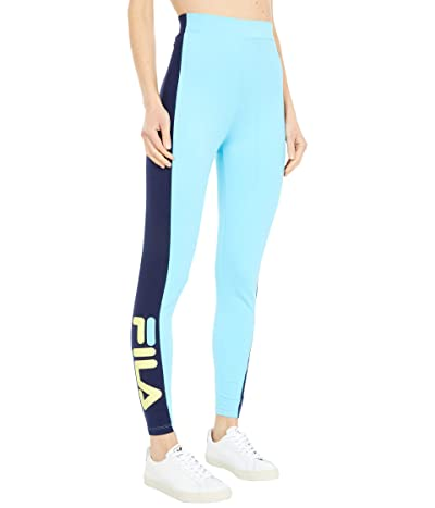 Fila Macarena High-Waisted Leggings (Bachelor Button/Peacoat/Limelight) Women