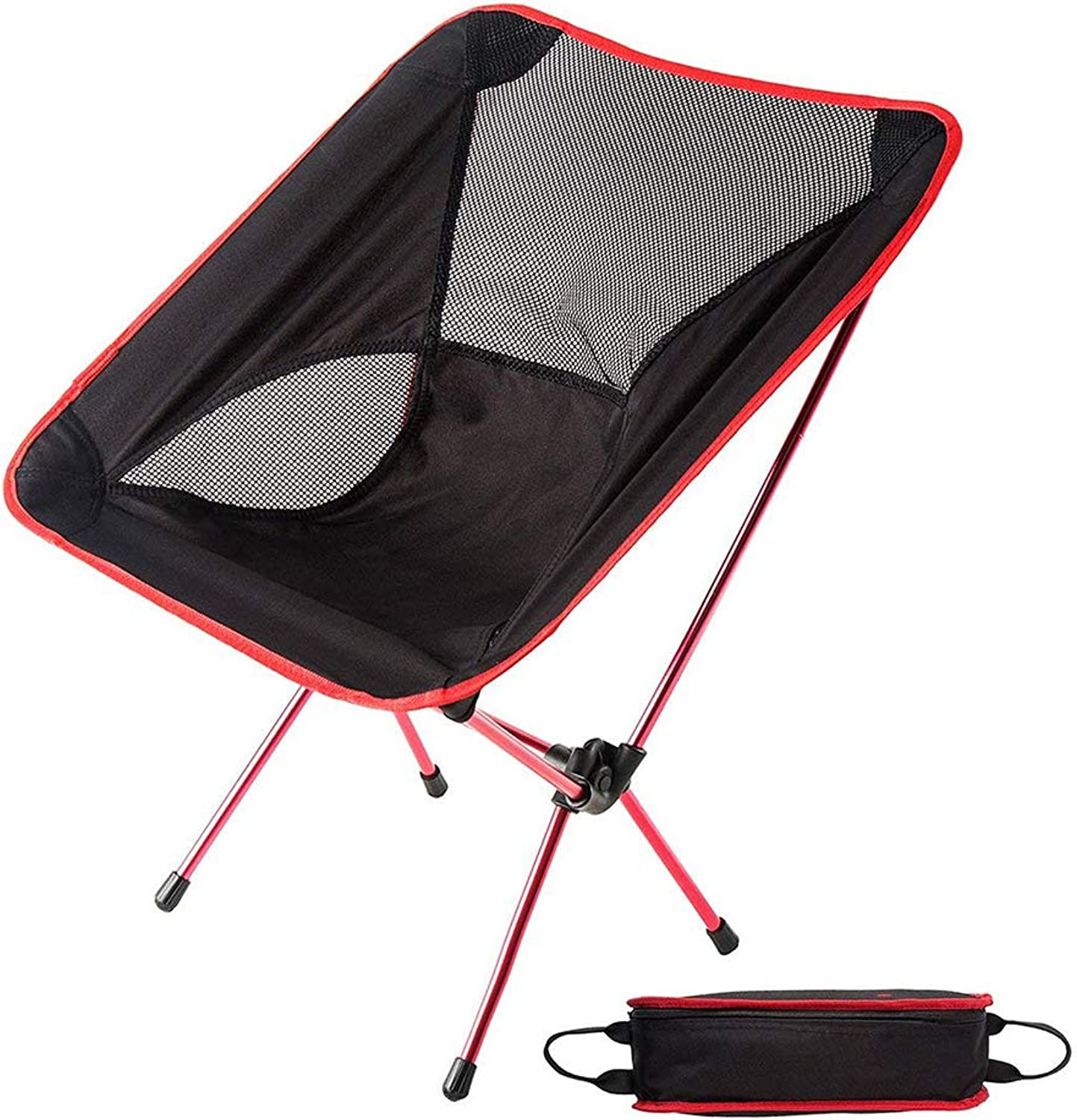 Folding Camp Chair,Ultralight Portable Folding Camping Backpacking Chair,with Carry Bag,for Outdoor, Camping, BBQ, Beach, Travel, Picnic