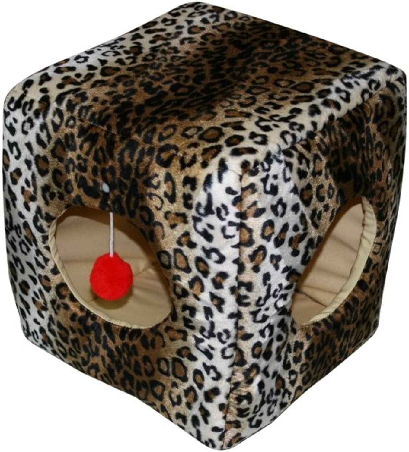 Casual Pet Products Kitty Cube, Leopard
