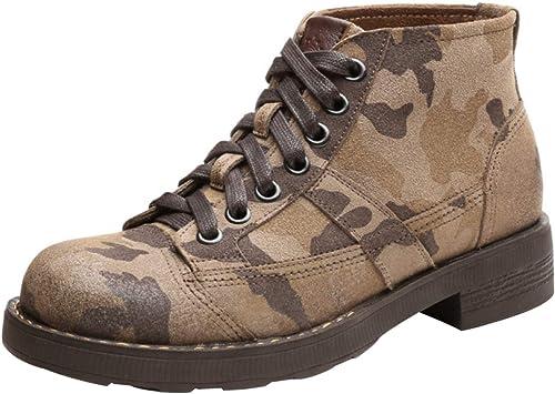 Bottines Pour Hommes High High Aidez-moi Martin bottes Camouflage VêteHommests De Travail Bottes Fashion,Multi-Couleuruge-42EU  magasin vente sortie