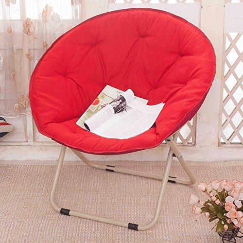 Chaise, Chaise De Plage Pliante Adulte Chaise Paresseuse Fauteuil Inclinable Chaise Ronde (Color : Red)