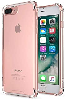 iPhone 7 Plus Case,iPhone 8 Plus Case,Crystal clear Cover Case [Shock Absorption] with Transparent Hard Plastic Back Plate and Soft TPU Gel Bumper (clear)