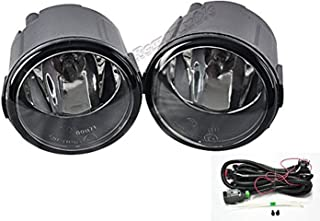 RP Remarkable Power, FL7059 Fog Light Bumper Lamp Assembly w/H11 Fit For EX/FX/QX/G M, Cube/Juke/Murano/Quest/Rogue/Versa Included Swithc Wiring