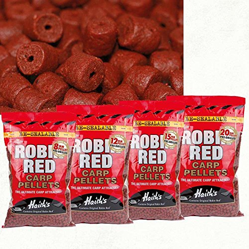 Dynamite Baits 15mm Robin Red Pre Boren Pellets 900g de originele Haith's