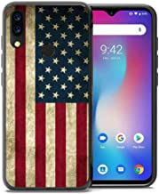 for Umidigi Power Case, ABLOOMBOX Shockproof Slim Thin Soft Flexible TPU Silicone Protective Cover for Umidigi Power Vintage American Flag