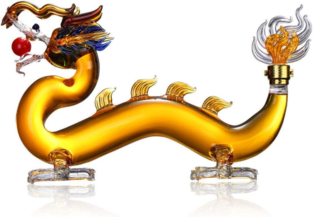 DONGSHUAI Chinese Dragon Shaped Whiskey Glass Beauty products Decanter Bar Home Long-awaited