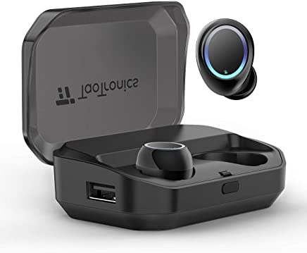 Wireless Bluetooth Earbuds, TaoTronics Bluetooth Headphones True Wireless Earbuds IPX7 Waterproof Dual Built-in Mic Earphones with Bluetooth 5.0 3500mAh Charging Case for 120H Extended Playtime