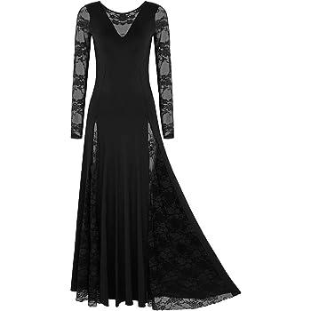 iiniim Vestidos de Danza Cristiana Flamenco Mujer con Falda Larga ...