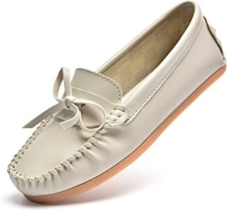 Women's Bow Loafers Comfort Boat Shoes Casual Driving Moccasins