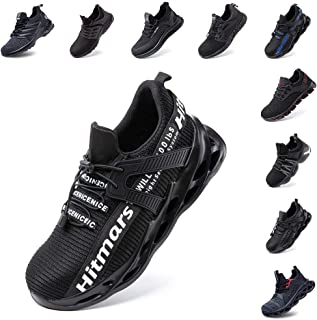 Hitmars Chaussure de Securité Homme Femme Légère Chaussures de Travail en Embout Acier Protection Baskets de Sécurité Spor...