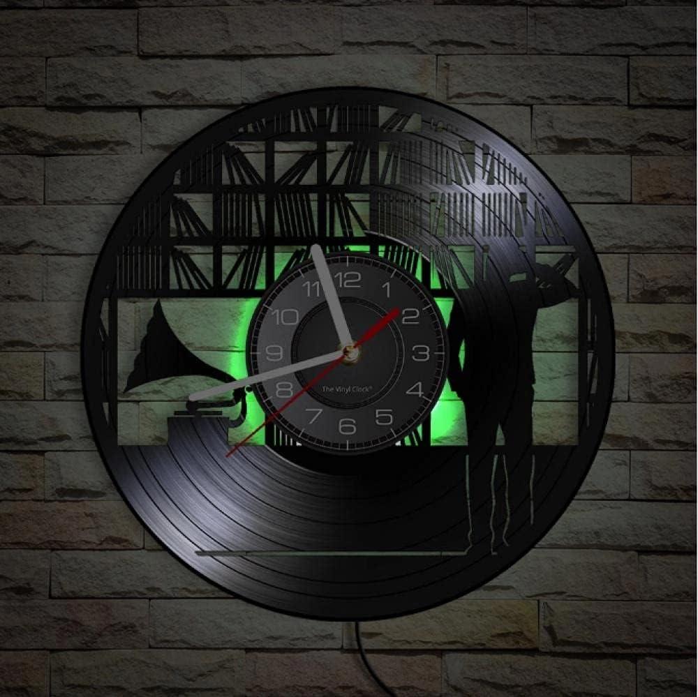JKLMZYT Vinyl Record Collector shipfree Vintage Superlatite Rock Silent Wall Clock