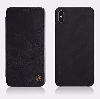 Nillkin iphone XS Max Case, natural leather Wallet Soft delicate lining, inside slot, Black