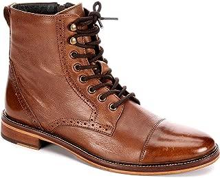 Mens Drexel Cap Toe Brogue Lace Up Boot Shoes