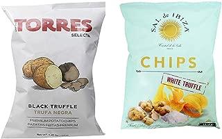 Gluten Free Potato Chips - Black Truffle & White Truffle 2 Pack