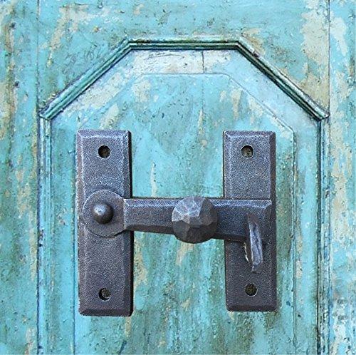 Antikas | Torverschluss aus Schmiedeeisen | Torriegel in antikem Design | Fallriegel für Türen, Tore und Fenster