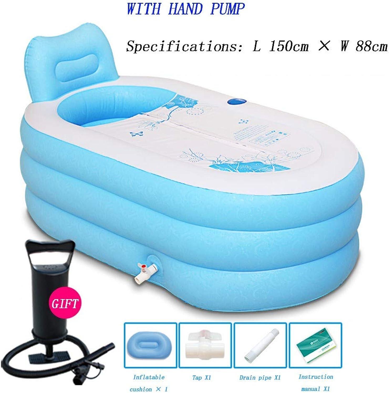 SDYBYG Faltbare Plastikbadewanne, Verdickungs Aufblasbare Erwachsene Badewanne, (L X B   150  88 cm)