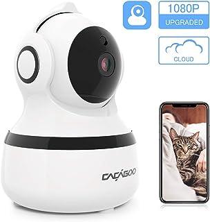 Cámara IP Wifi 1080P CACAG00Cámara de Vigilancia Interior Inalámbrico 2.4Galmacenamiento en la nubeaudio bidireccionaldetección de movimiento con alarmavisión nocturna