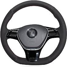 MEWANT DIY Hand N/ähen atmungsaktiv schwarz Kunstleder Auto Auto Lenkradbez/üge Wrap f/ür E60 M5 2005-2008 E63 E64 Cabrio M6 2005-2010 mit Ausbuchtungen + mit M-Markierung am Lenkrad