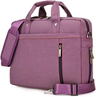 Laptop Case,SNOW WI- 15-15.6 Inch Fashion Durable Multi-Functional Waterproof Laptop Shoulder Bag Briefcase Case for MacBook Air,MacBook Pro,Acer,Asus,Dell,Lenovo,HP,Samsung,Sony(Purple)