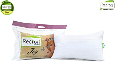 Recron Certified Joy Fibre Pillow - 41 cm x 61 cm, White