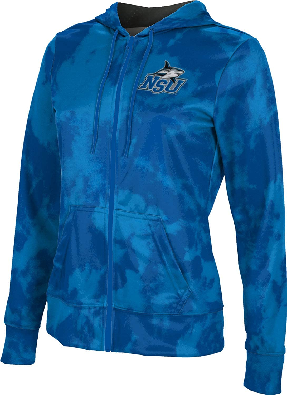 Nova Southeastern University Girls' Zipper Hoodie, School Spirit Sweatshirt (Grunge)