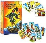 Tarot Radiant Chevalier WITT Tarot-Deck, 78 PC-Spiel Oracle-Karten für Anfänger Family Party Brettspiele, Fun Game Card Sets (English Version)