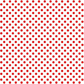 Siser EasyPatterns Heat Transfer Vinyl HTV for T-Shirts 18 by 12 Inches (Polka Dot Red and White)